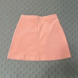 Forever 21 Pink Corduroy High Waisted Skirt